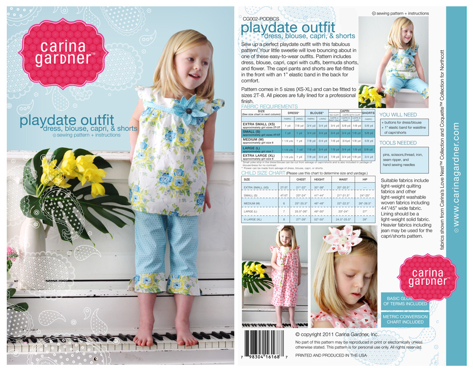 Playdate Outfit Sewing Pattern |