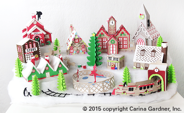 Bright image with regard to printable christmas village template