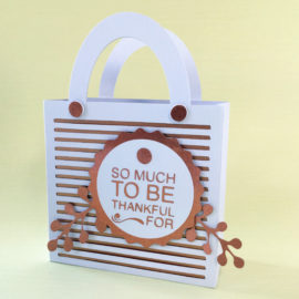 Thankful  Gift Bag with Drink Mat Gifts